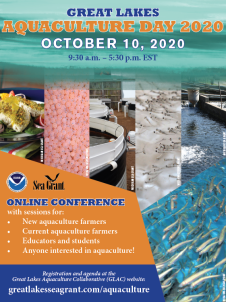 Promotional flyer for Aquaculture Day 2020